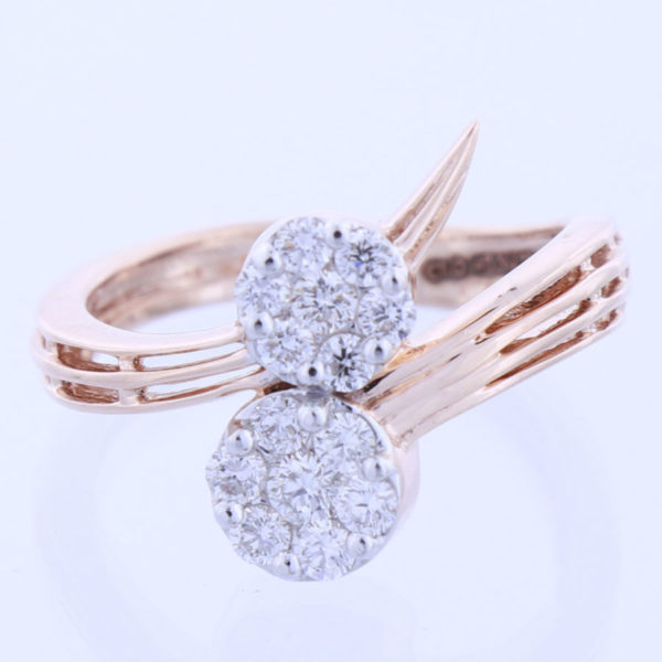 Rose Gold and Diamonds Gala Ring on a white background